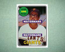 Clyde King San Francisco Giants 1969 Style Custom Baseball Art Card