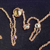 CHILANGO Amethyst Citrin Kette lang 100cm TOP SCHLIFF 925er Silber Rosevergoldet