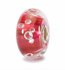 "Trollbeads Damen Bead  Muranoglas Silber ""Diamanten Bead Pink"" TGLBE-00017"
