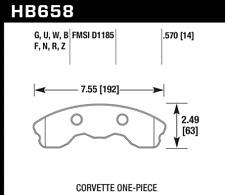 Hawk Disc Brake Pad Front for 2010-2013 Chevrolet Corvette / HB658U.570
