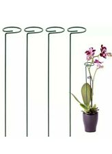 4 Pack Plant Support Stakes Garden Flower Support Stake Steel Tomatoes Silver