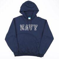 CHAMPION Eco Blue USA Navy Camo Logo Hoodie Sweatshirt Men's Size Large