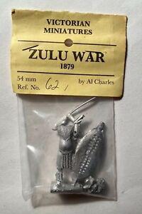 1879 ZULU WAR VICTORIAN MINIATURES Warrior SPEAR 54 MM Al Charles AA N854 PA