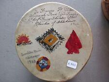 CHEROKEE HIDE DRUM, WORLD'S FAIR 1933..NATIVE AMERICAN INDIAN DRUM CO P-369