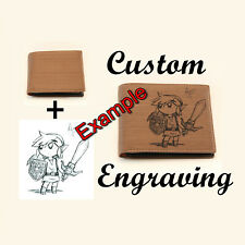 Custom Engraved Men's Wallet, Photo Wallet, Just tell me what you want!