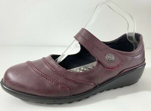 Cushion Walk Wine Touch and Close Bar Wide Fit Shoes