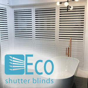 PLANTATION SHUTTER BLINDS - ORDER SAMPLE - CLAY - LOW PRICE - £164 PSM