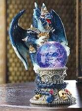 Color-Change Led Dragon & Crystal Ball Figurine Sculpture Or Night Light * Nib