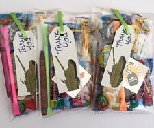 Army party bags Tanks,pre filled sweets toys,puzzle Boys, girls filled bags