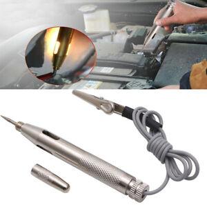 Test Light Circuit Tester Car Truck Auto Voltage Pen 6V 12V 24V Volt Silver UK