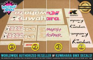 Kuwahara HOPPER BMX Decal Set - 1987 - All Colors - 100% Factory Correct!
