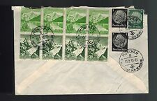 1939 Munich Germany WWII Multi Franking Gilbote Express Deutsche Reich Cover