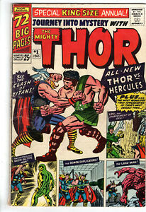 JOURNEY INTO MYSTERY ANNUAL #1 (1965) - GRADE 4.5 - 1ST APPEARANCE OF HERCULES!