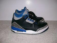 e4392f5c2481 SZ 9 Air Jordan III 3 Sport Blue 136064 007 True Blue White Cement Black IV