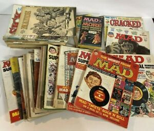Huge Lot of 40 + Vintage MAD Magazines 60s & 70s Read Used AS IS Super Special