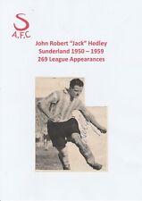 JACK HEDLEY SUNDERLAND 1950-1959 RARE ORIGINAL HAND SIGNED MAGAZINE CUTTING