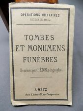 Carte Tombes et monumens funèbres dessinés par Hédin, géographe METZ