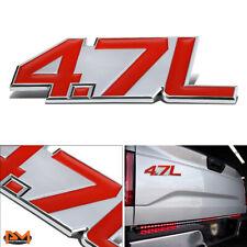 """4.7L""Polished Metal 3D Decal Red&Silver Emblem For Maserati/Mercedes/Dodge"