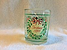 Christmas 1984 Holly Wreath Votive Candle Holder