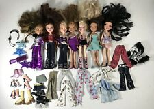 Lot Of 7 Bratz MGA Dolls Clothes Shoes And Accessories 2001 Doll