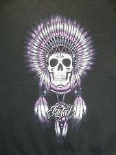 Fatal Clothing Co. Womens Hoodie Skull in Headress Black Long Sleeve EUC Size XL
