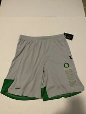 Oregon Ducks Nike Dry Knit Shorts Wolf Gray Men's Size: Large NWT