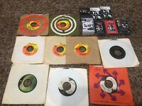 Vintage Music Cassettes & 45 Vinyl Lot Of 17 - The Beatles