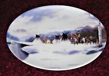 Vintage Collector's plate Ancient Seasons Winter Sojourn Bradex