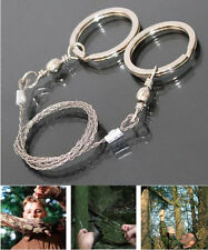 Survival Emergency Stainless Steel Wire Saw Camping Hiking Hunting Climbing Gear