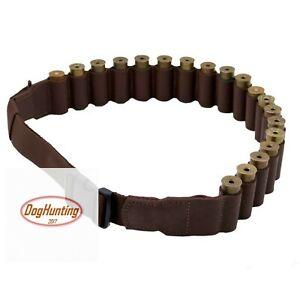 Leather Cartridge Shotgun Shell Belt Holder Ammo Bandolier 20, 16-12 Ga