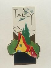 Vintage Bridge Game Tally -- House with Trees and Birds