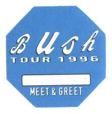 Bush - Tour 1996 - Konzert-Satin-Pass Meet & Greet  - Schönes Sammlerstück