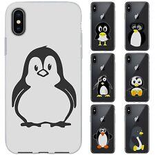 dessana Comic Pinguine Silikon Schutz Hülle Case Handy Tasche Cover für Apple