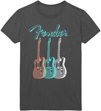 Fender 'Triple Guitar' (Charcoal) T-Shirt - NEW & OFFICIAL!