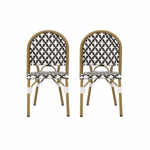 Jordy Outdoor French Bistro Chair (Set of 2)