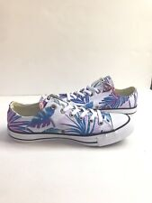 New Womens 12 Converse Shoes White Floral All Star OX Tropical 155396F  Sneakers e65be2ff3