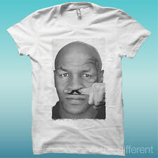 """T-SHIRT """" MIKE TYSON BOXING FINGER MUSTACHE """" GIFT IDEA ROAD TO HAPPINESS"""