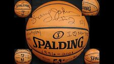 LARRY JOHNSON SIGNED OFFICIAL KNICKS STAT #d 1/2 GAI AMAZING F/S BASKETBALL !!