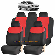 RED ELEGANT AIRBAG COMPATIBLE SEAT COVER for MITSUBISHI LANCER GALANT