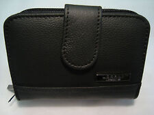 Ladies Leather Purse Wallet Credit Card Holder all in One Black RFID Protected