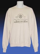 New Henri Lloyd BMW American AURORA Crew Vintage Cotton Sailing Sweatshirt Ecr L