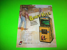 Midway BOOT HILL Original 1977 Retro Video Arcade Game Promo Sales Flyer Adv