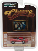 GREENLIGHT 1:64  HOLLYWOOD 17 CHEERS 1967 CHEVROLET CORVETTE DIECAST RED