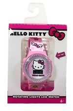 Hello Kitty Girls Rotating Lights LCD Watch