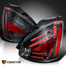 Depo LED Tail Stop Lights Black For 2004-2008 Nissan Maxima