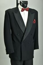"""Stout Approx 5'7"""" Gentleman's 1956 Bespoke Tailored Dinner Jacket w/ Bow Tie.ZLD"""