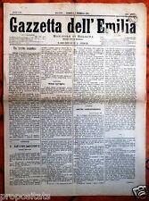 gx 39 Bologna GAZZETTA DELL'EMILIA - Monitore di Bologna 4 dicembre 1881 n.335
