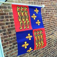 "16TH CENTURY TUDOR ROYAL STANDARD HAND WAVING FLAG 9""X6"" 22.5cm x 15cm HENRY 8TH"