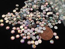 Vintage 5mm Flat Backed Faceted Swarovski Crystal Glass AB Chaton Rhinestones 40