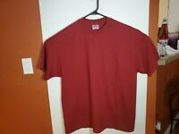 Vintage Hanes Heavyweight 50/50 Red Blank Single Stitch T Shirt 2XL XXL USA